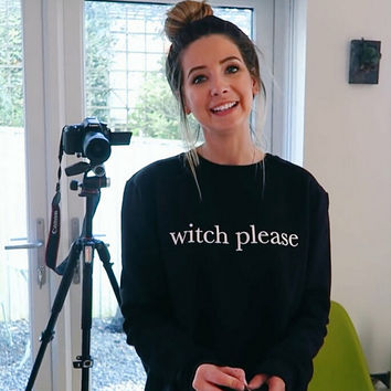 witch please Print Sweater Sweatshirt for Women Gift 190