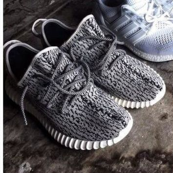 """Adidas"" Yeezy Boost Women Men Casual Running Sports Shoes Sneakers Grey I"