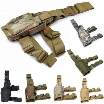 CQC Tactical Adjustable Universal Right Drop Leg Pistol Gun Holster For Soft Air Colt 1911 Beretta M9 P226 Glock 17 18 19