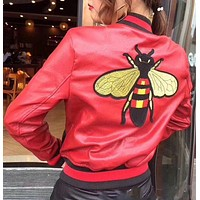ONETOW Gucci Bee embroidered jacket