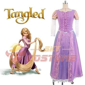 Girls  Tangled  Princess  Rapunzel  Costume  Adult