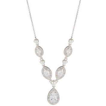 Nadri Rhinestone Pendant Necklace