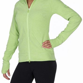 Westcomb Womens Fall Salish Warm Winter Fleece Sweater Coat Jacket Lime Twist