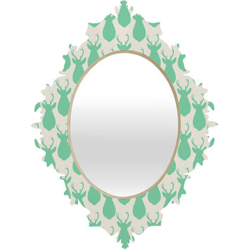 Allyson Johnson Minty Deer Baroque Mirror