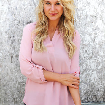 Stand Out In Blush Blouse