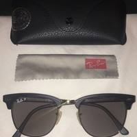 DCCKW7H Rayban RB3026 Polarized Matte Black 51mm Sunglasses NWOT