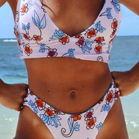 Cupshe Seaside Splendor Floral Bikini Set