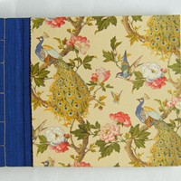 Photo Album - Beautiful Peacocks - Little Photo Album With Silk Edging And Peacocks - Ready To Ship | Luulla