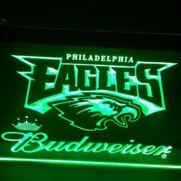 Philadelphia Eagles budweiser beer bar pub club 3d signs LED Neon Light Sign man cave