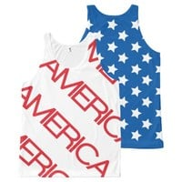 American Flag Stars & Stripes All-Over-Print Tank Top