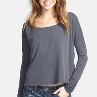 Junior Women's Volcom 'Lived In' Overdyed Tee