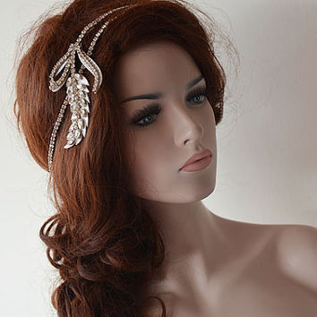 Rhinestone Headband, Bridal Headband, Wedding Headband, Headband Wedding Wrap, Bridal Hair Accessories, Wedding hair Accessory