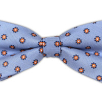 Half Moon Floral - Light Blue (Linen Bow Ties) | Ties, Bow Ties, and Pocket Squares | The Tie Bar