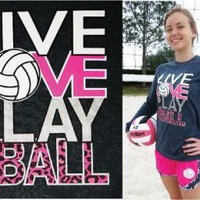 """Live Love Play"" - Volleyball Long Sleeve"