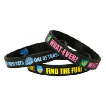 Disney Inside Out Rubber Bracelet 3 Pack