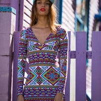 Felix Dress Indigo Mayan - Arnhem Clothing