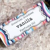 VANILLA Perfume Oil - Soft, sweet vanilla scent that lingers on your skin