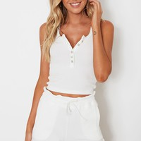 Bailey Ribbed Top White