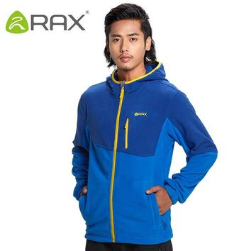 Rax Men's Fleece Jacket Brand Winter Male Outdoor Polartec Fleece Jacket Women Mountaineering Hiking Camping Hooded Jacket Men