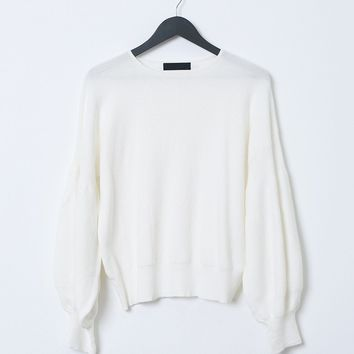 Blowout Knit Top - Ivory