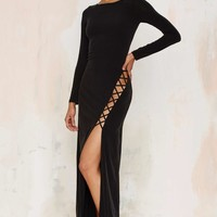 The Jetset Diaries Novella Lace-Up Maxi Dress