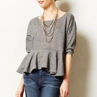 Heathered Peplum Sweatshirt by Saturday/Sunday Dark Grey