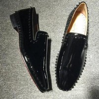 DCCK2 Cl Christian Louboutin Loafer Style #2390 Sneakers Fashion Shoes