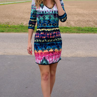 All Eyes On You Dress: Multi