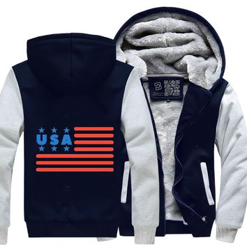 Usa Flag 4Th July, Independence Day Fleece Jacket