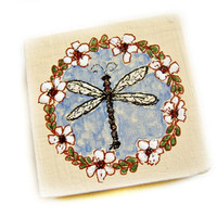 Mini Original / Wooden Art Block / Dragonfly Original  /  Mini Collection