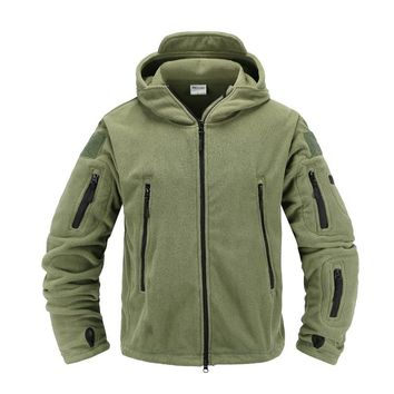 Soft Shell Military Fleece Jackets Men Hooded Windproof Tactical Outerwear Coat Warm Army Jacket Clothes