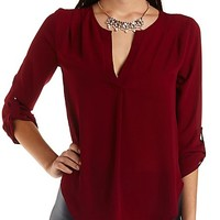 FLYAWAY BACK TUNIC TOP