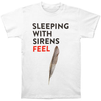 Sleeping With Sirens Men's  Detailed Feather T-shirt White Rockabilia