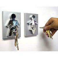 Couple Human Key Holders (set of 2)