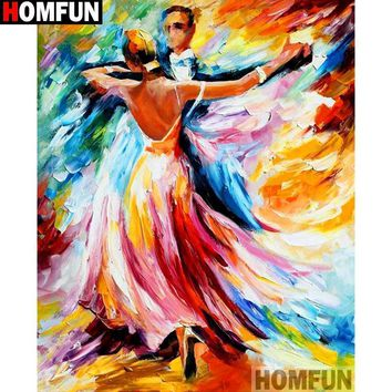 5D Diamond Painting Abstract Colorful Dancers Kit
