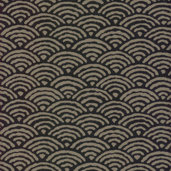 Large Waves Japanese Indigo Cotton Quilting Fabric KW-3610-12