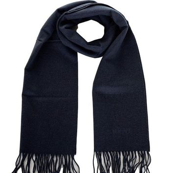 DCCK3SY Versace Men's Solid Wool Scarf