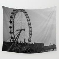 London Eye Wall Tapestry by Adrienne Page