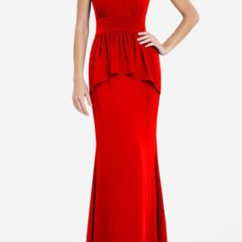 BCBGMAXAZRIA - RUELLA STRAPLESS LONG TIERED DRESS $378.00