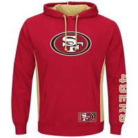 San Francisco 49ers Majestic Passing Game IV Pullover Hoodie – Scarlet