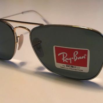 New Ray-Ban RB3603 001/71 56MM Gold Frame G15 Len Sunglasses Rayban MSRP $179.00