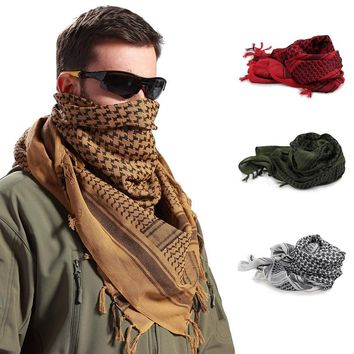 Men Knitted Scarf Gifts Men's Scarf  Keffiyeh Wrap New Design Scarf Polyester Male Winter Multicolor Patchwork Vintage