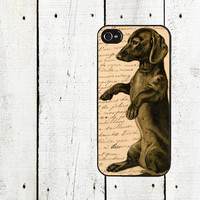 Weiner Dog Vintage Dachshund sink case cover for iphone 4 4s 5 5s 5c 6 6s 6plus 6s plus drm