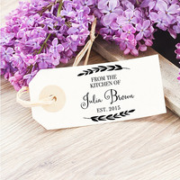 From The Kitchen Stamp - Etsy Personalized Stamp for the Chef & Baker for Gift Tags, Recipe Cards - Hostess Gift for Women, Mom, Friends