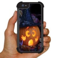 iPhone 5 BruteBoxTM Case - Halloween - Scared Pumpkin - 2 Part Rubber and Plastic Protective Case