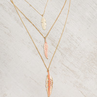 Colors of the Wind Layered Necklace Set