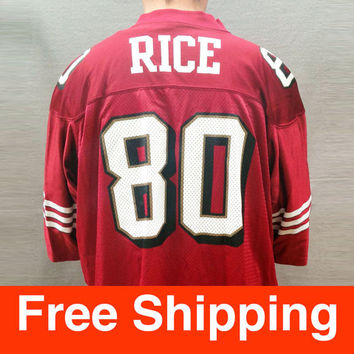 Vintage Jersey, Football, Jerry Rice Jersey, San Francisco 49ers, NFL, Nike, Size Adult XXL