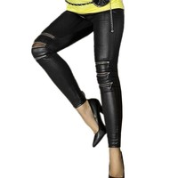 LA. Chilly Faux Leather Jeggings