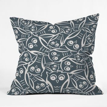 Heather Dutton Night Owl Throw Pillow