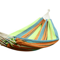 Emerald Isles Yellow and Green Stripe Hammock Bed (63 inch wide)